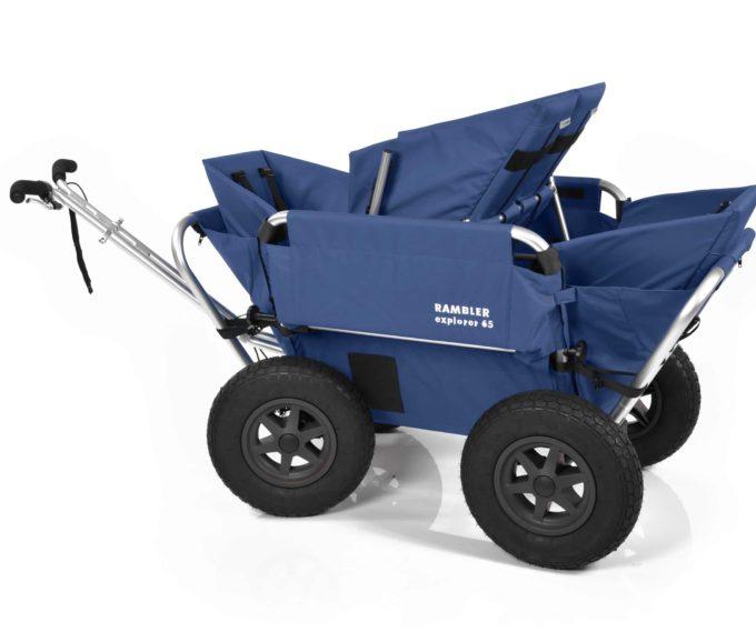 Rambler Explorer 65 (für 4 Kinder) + 2 Kindersitze + 1 Duo-Babysitz + Hinterer Rahmen 18