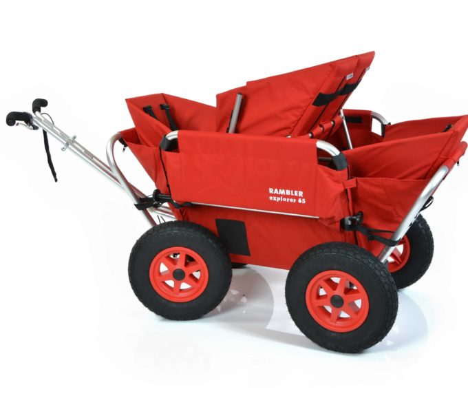 Rambler Explorer 65 (für 4 Kinder) + 2 Kindersitze + 1 Duo-Babysitz + Hinterer Rahmen 7