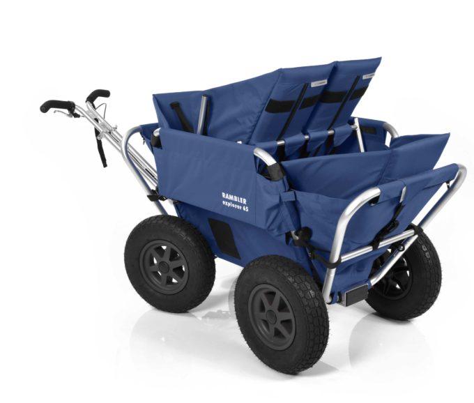 Rambler Explorer 65 (für 4 Kinder) + 2 Kindersitze + 1 Duo-Babysitz + Hinterer Rahmen 20