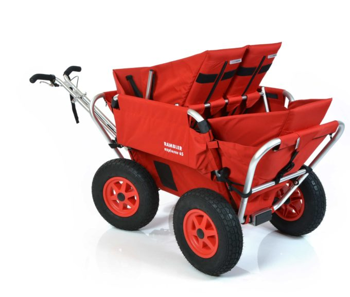 Rambler Explorer 65 (für 4 Kinder) + 2 Kindersitze + 1 Duo-Babysitz + Hinterer Rahmen 9
