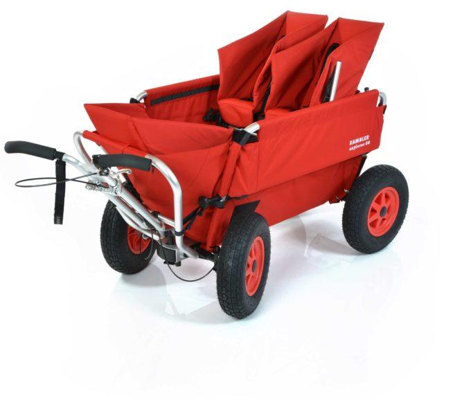 Rambler Explorer 80 (für 6 Kinder) + 1 Kindersitz + 1 Duo-Babysitz + Trittbrett 1