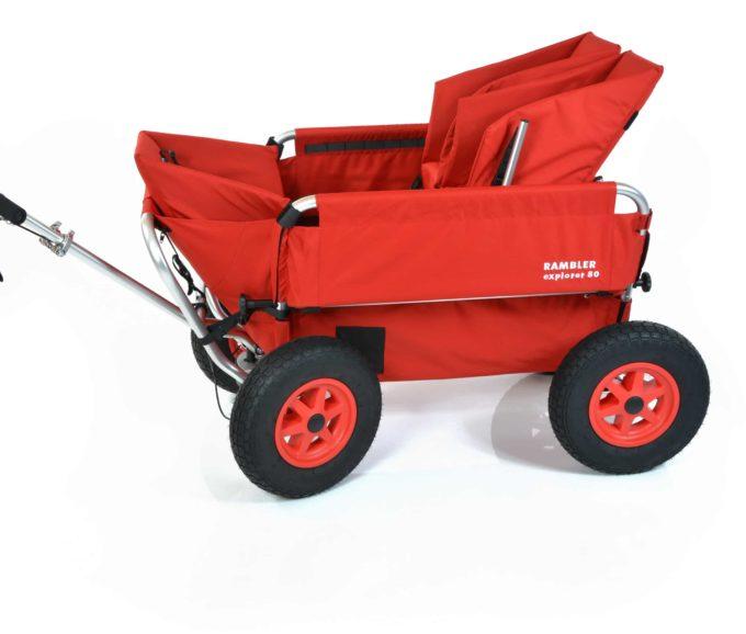 Rambler Explorer 80 (für 6 Kinder) + 1 Kindersitz + 1 Duo-Babysitz + Trittbrett 4