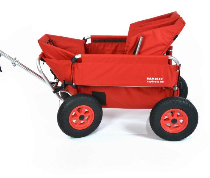 Rambler Explorer 80 (für 6 Kinder) + 1 Kindersitz + 1 Duo-Babysitz + Trittbrett 5