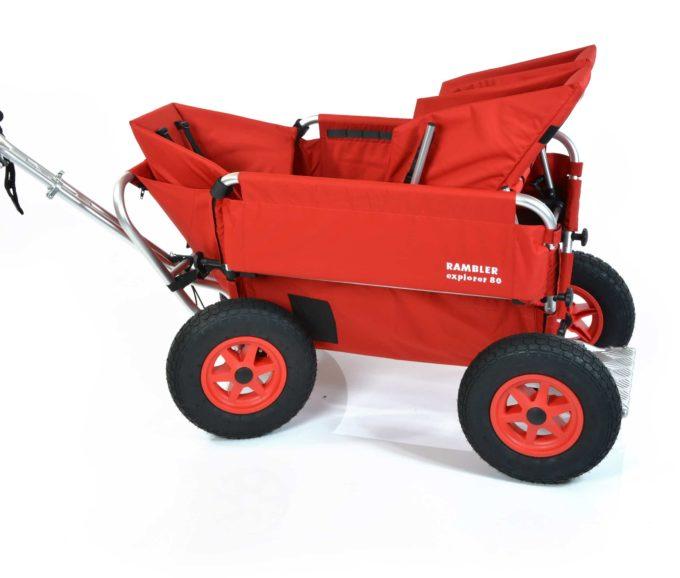 Rambler Explorer 80 (für 6 Kinder) + 1 Kindersitz + 1 Duo-Babysitz + Trittbrett 6