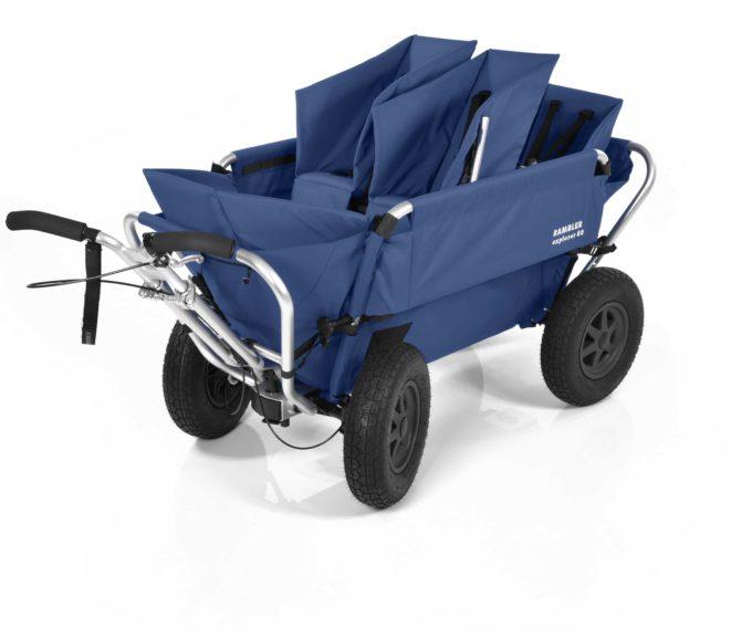 Rambler Explorer 80 (für 4 Kinder) + 1 Duo-Babysitz + 2 Kindersitze + Hinterer Rahmen 12