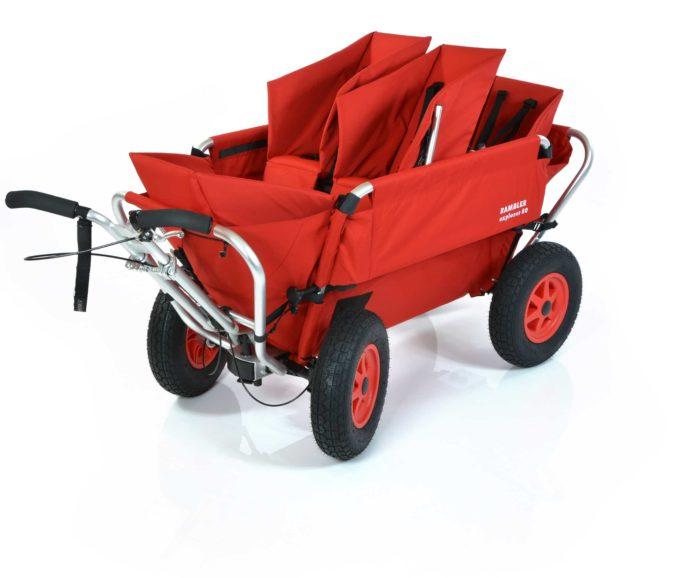 Rambler Explorer 80 (für 4 Kinder) + 1 Duo-Babysitz + 2 Kindersitze + Hinterer Rahmen 1