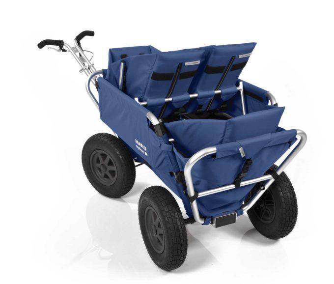 Rambler Explorer 80 (für 4 Kinder) + 1 Duo-Babysitz + 2 Kindersitze + Hinterer Rahmen 21