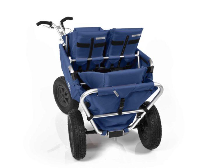 Rambler Explorer 80 (für 4 Kinder) + 1 Duo-Babysitz + 2 Kindersitze + Hinterer Rahmen 22