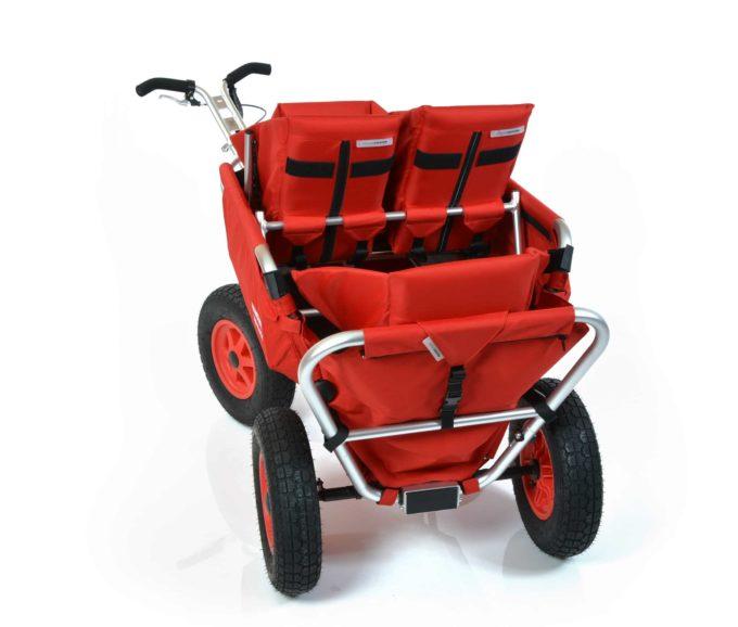 Rambler Explorer 80 (für 4 Kinder) + 1 Duo-Babysitz + 2 Kindersitze + Hinterer Rahmen 11