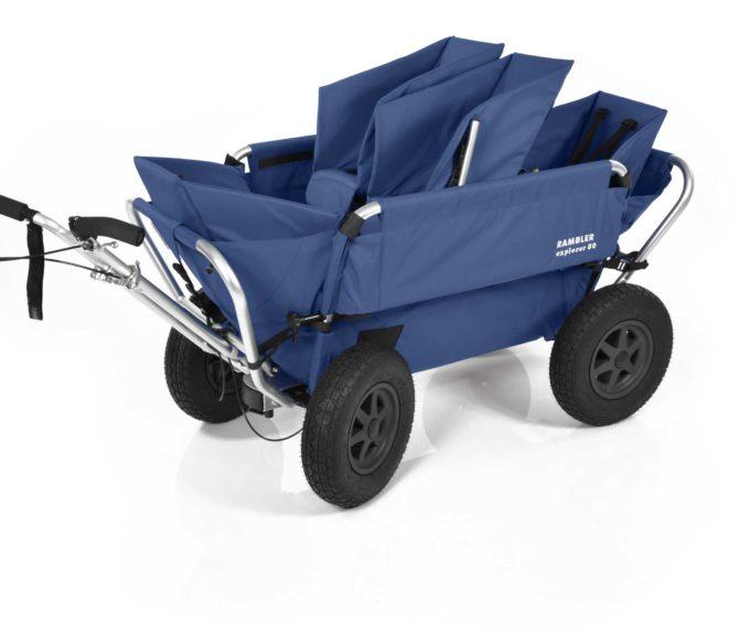Rambler Explorer 80 (für 4 Kinder) + 1 Duo-Babysitz + 2 Kindersitze + Hinterer Rahmen 13