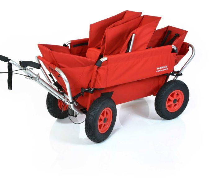 Rambler Explorer 80 (für 4 Kinder) + 1 Duo-Babysitz + 2 Kindersitze + Hinterer Rahmen 2