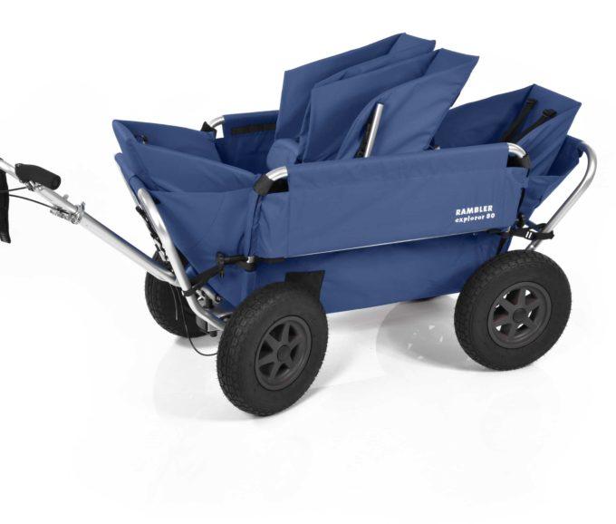 Rambler Explorer 80 (für 4 Kinder) + 1 Duo-Babysitz + 2 Kindersitze + Hinterer Rahmen 14