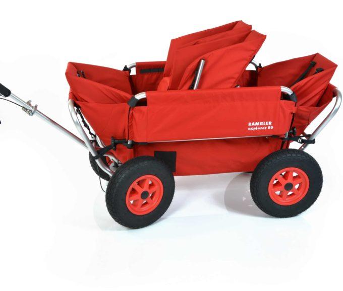 Rambler Explorer 80 (für 4 Kinder) + 1 Duo-Babysitz + 2 Kindersitze + Hinterer Rahmen 4