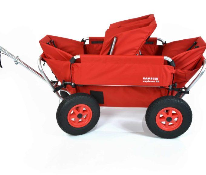 Rambler Explorer 80 (für 4 Kinder) + 1 Duo-Babysitz + 2 Kindersitze + Hinterer Rahmen 5