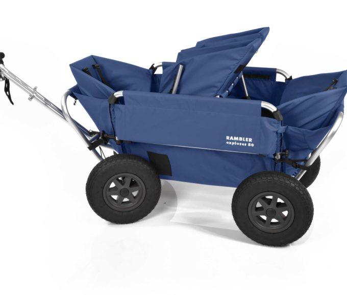 Rambler Explorer 80 (für 4 Kinder) + 1 Duo-Babysitz + 2 Kindersitze + Hinterer Rahmen 17