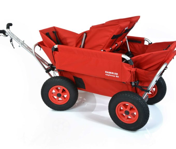 Rambler Explorer 80 (für 4 Kinder) + 1 Duo-Babysitz + 2 Kindersitze + Hinterer Rahmen 7