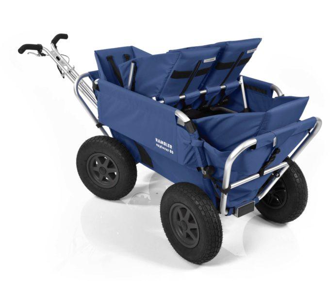 Rambler Explorer 80 (für 4 Kinder) + 1 Duo-Babysitz + 2 Kindersitze + Hinterer Rahmen 20