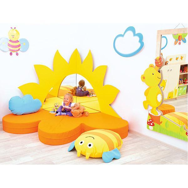 Kindergarten-Spiegel-Set: Sonne 3