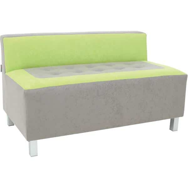 Kindergarten-Sofa Premium - gerade - grau/grün 1
