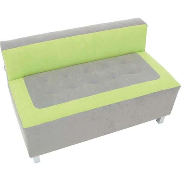 Kindergarten-Sofa Premium - gerade - grau/grün 2