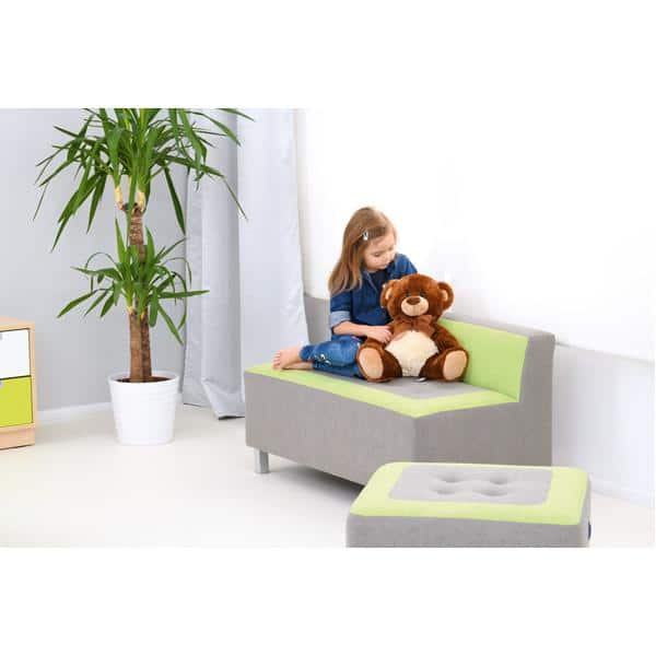 Kindergarten-Sofa Premium - gerade - grau/grün 4