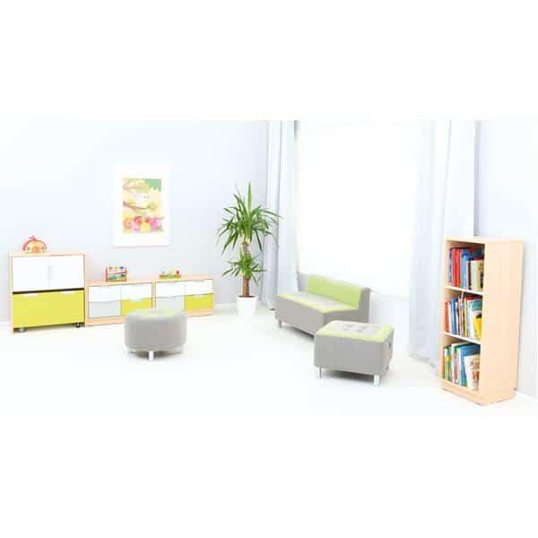 Kindergarten-Sitz Premium - rund - grün 3