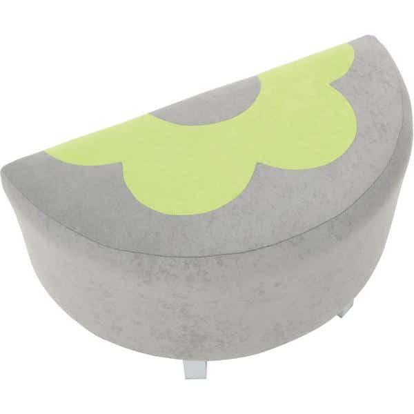 Kindergarten-Sitz Premium - halbrund - grau/grün 2