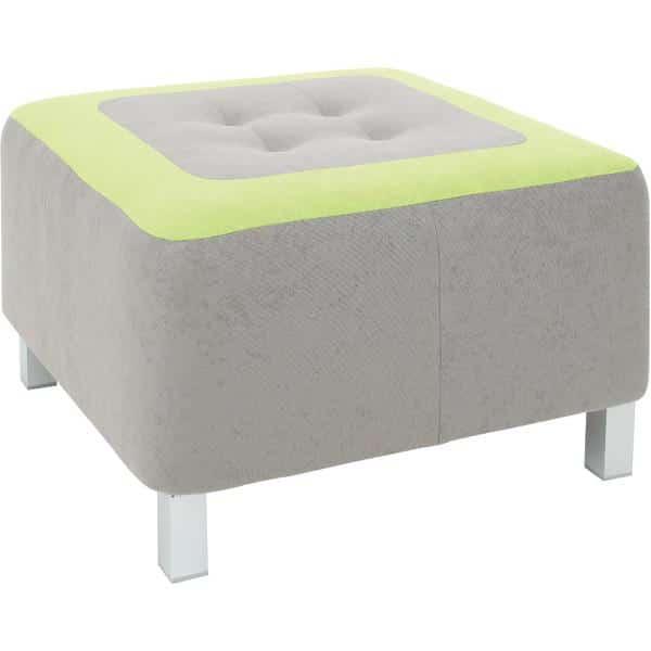 Kindergarten-Sitz Premium - quadratisch - grau/grün 1