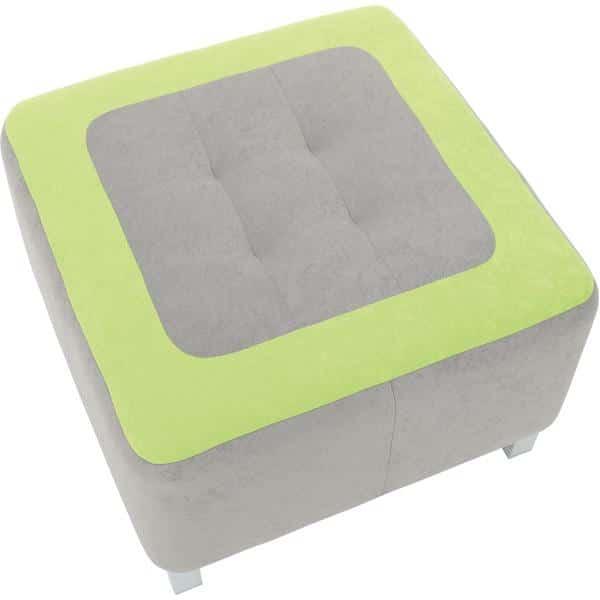 Kindergarten-Sitz Premium - quadratisch - grau/grün 2