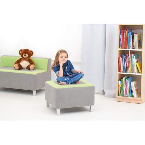 Kindergarten-Sitz Premium - quadratisch - grau/grün 3