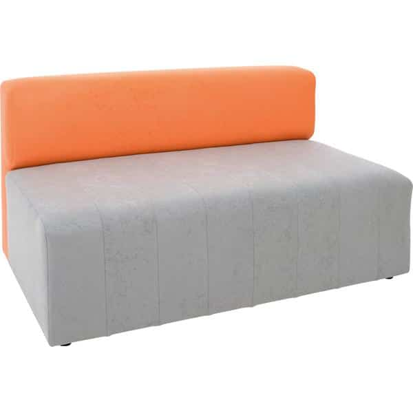 Kindergarten-Sofa Modern - grau-orange 1
