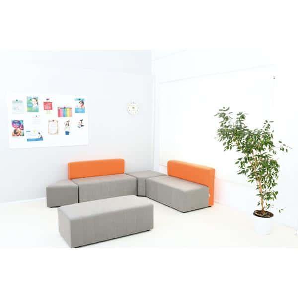 Kindergarten-Sofa Modern - grau-orange 2