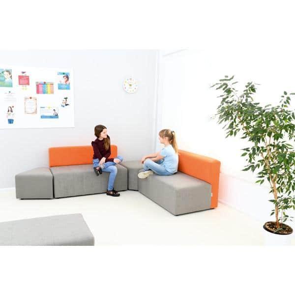 Kindergarten-Sofa Modern - grau-orange 3