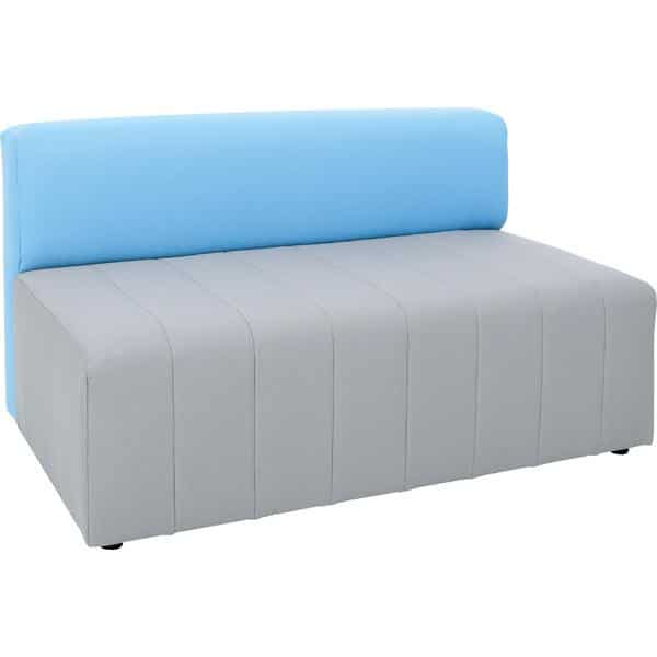 Kindergarten-Sofa Modern Plus - grau-blau 1