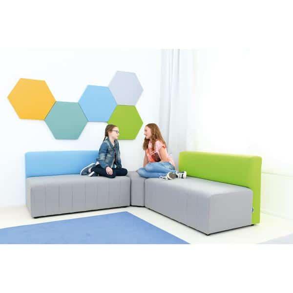 Kindergarten-Sofa Modern Plus - grau-blau 2