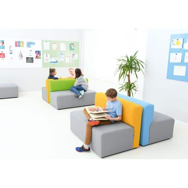 Kindergarten-Sofa Modern Plus - grau-blau 3