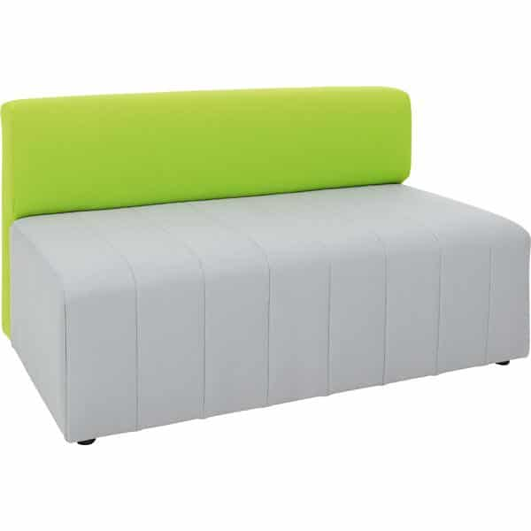 Kindergarten-Sofa Modern Plus - grau-grün 1
