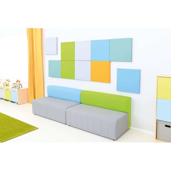 Kindergarten-Sofa Modern Plus - grau-grün 3
