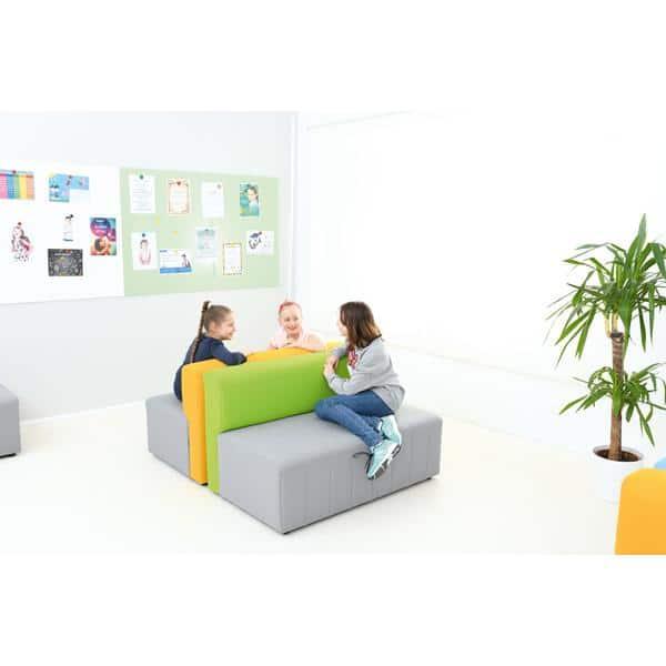 Kindergarten-Sofa Modern Plus - grau-grün 2
