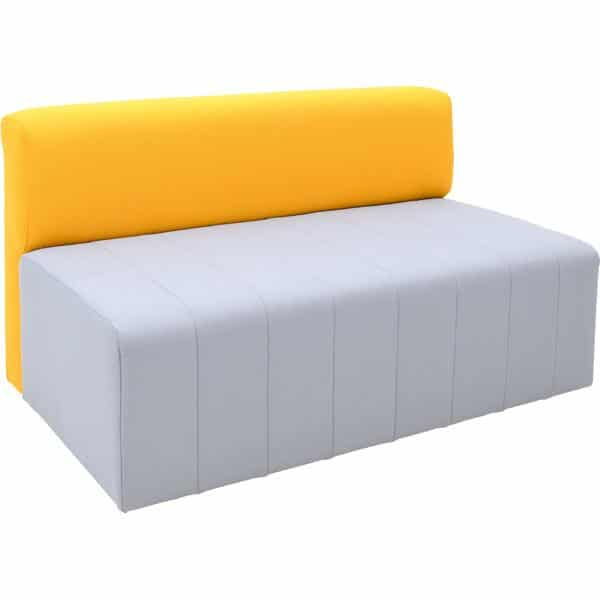 Kindergarten-Sofa Modern Plus - grau-senf 1