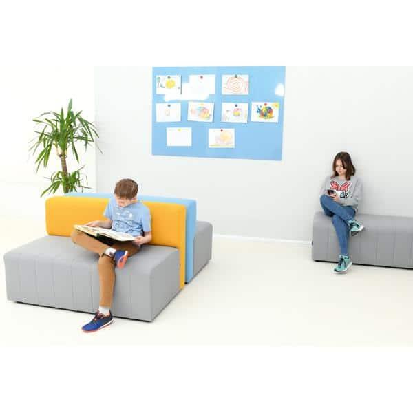Kindergarten-Sofa Modern Plus - grau-senf 3