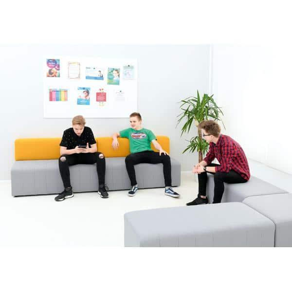 Kindergarten-Sofa Modern Plus - grau-senf 2