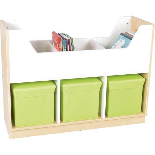 Kindergarten-Bücherregal Quadro - Bücherkahn - Ahorn 1