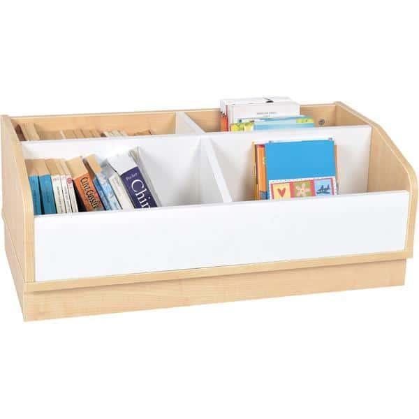 Kindergarten-Bücherregal Quadro - Großer Bücher-Rollcontainer - Ahorn 1
