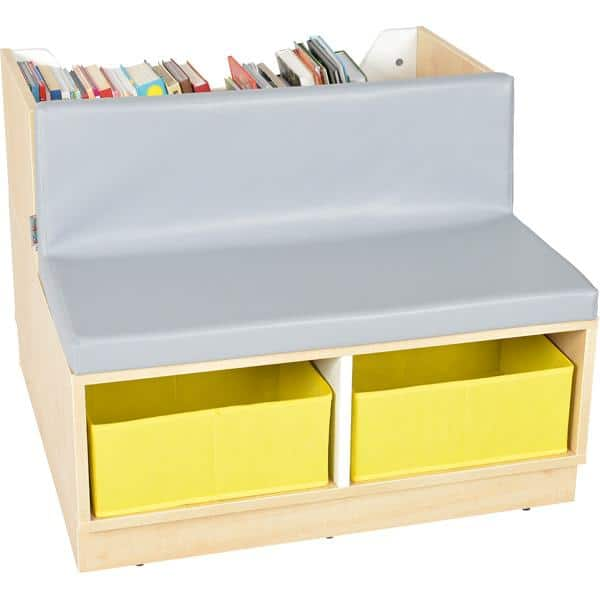 Kindergarten-Bücherregal Quadro - Bücherbank - Ahorn 1