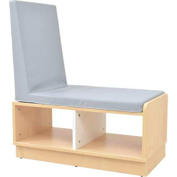 Kindergarten-Bücherregal Quadro - Schrank mit Sitzbank - Ahorn 1