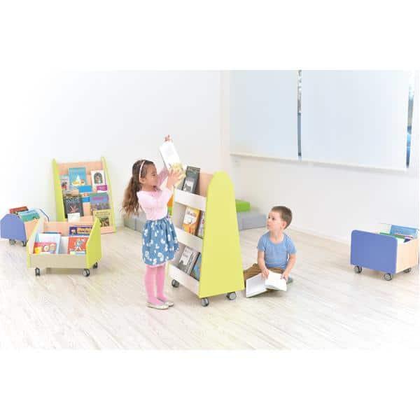 Kindergarten-Bücherregal Quadro - zweiseitig - Ahorn 12