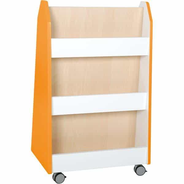 Kindergarten-Bücherregal Quadro - zweiseitig - Ahorn 1
