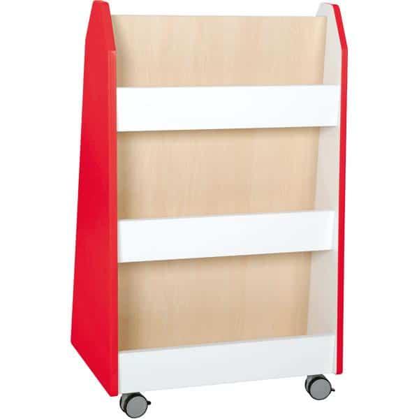 Kindergarten-Bücherregal Quadro - zweiseitig - Ahorn 8