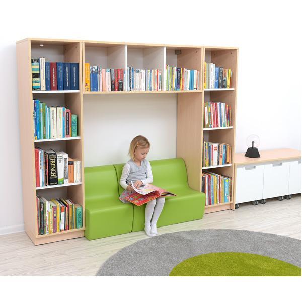 Kindergarten-Bücherregal Quadro - Bücherecke - Ahorn 2
